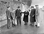 A GAA meeting on Countess Road with Dan Kavanagh, Maurice Horgan, JK Myres and in themiddle making his point is Small Jer O'leary in the 1950's.<br /> Picture by Donal MacMonagle