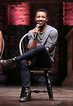 """Zelig Williams from the 'Hamilton' cast during a Q & A before The Rockefeller Foundation and The Gilder Lehrman Institute of American History sponsored High School student #EduHam matinee performance of """"Hamilton"""" at the Richard Rodgers Theatre on June 6, 2018 in New York City."""