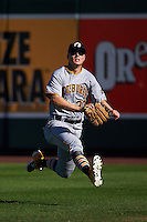 Glendale Desert Dogs outfielder Austin Meadows (30) makes a play on a fly ball during an Arizona Fall League game against the Surprise Saguaros on October 23, 2015 at Salt River Fields at Talking Stick in Scottsdale, Arizona.  Glendale defeated Surprise 9-6.  (Mike Janes/Four Seam Images)