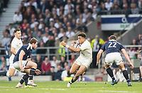 Twickenham, United Kingdom. Antony WATSON, looking for the gap, during the Six Nations International Rugby, Calcutta Cup Game, England vs Scotland, RFU Stadium, Twickenham, England, <br /> <br /> Saturday  11/03/2017<br /> <br /> [Mandatory Credit; Peter Spurrier/Intersport-images]