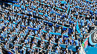 Japanese J-League soccer fans show their colors during a game.
