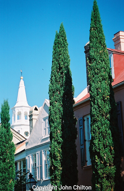 Photo of Steeple and Architecture in Charleston, South Carolina