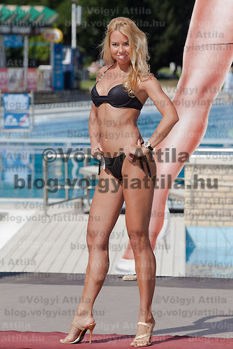 Bettina Patai participates the Miss Bikini Hungary beauty contest held in Budapest, Hungary on August 29, 2010. ATTILA VOLGYI