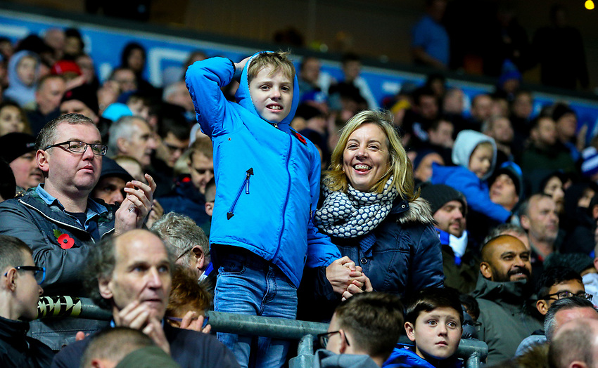 Blackburn Rovers fans celebrate the win after the final whistle <br /> <br /> Photographer Alex Dodd/CameraSport<br /> <br /> The EFL Sky Bet Championship - Blackburn Rovers v Queens Park Rangers - Saturday 3rd November 2018 - Ewood Park - Blackburn<br /> <br /> World Copyright © 2018 CameraSport. All rights reserved. 43 Linden Ave. Countesthorpe. Leicester. England. LE8 5PG - Tel: +44 (0) 116 277 4147 - admin@camerasport.com - www.camerasport.com