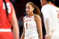 College Park, MD - March 23, 2019: Maryland Terrapins forward Shakira Austin (1) at the free throw line during first round action of game between Radford and Maryland at Xfinity Center in College Park, MD. Maryland defeated Radford 73-51. (Photo by Phil Peters/Media Images International)