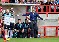 Gareth Ainsworth Manager of Wycombe Wanderers during the Sky Bet League 2 match between Crawley Town and Wycombe Wanderers at Checkatrade.com Stadium, Crawley, England on 29 August 2015. Photo by Liam McAvoy.
