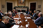 Washington, DC - December 9, 2009 -- United States President Barack Obama meets with business and environmental leaders in the Roosevelt Room of the White House in Washington, D.C., Wednesday, December 9, 2009. .Mandatory Credit: Pete Souza - White House via CNP