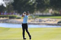 Yuxin Lin (AM) (CHN) on the 17th during the 3rd round of the Abu Dhabi HSBC Championship, Abu Dhabi Golf Club, Abu Dhabi,  United Arab Emirates. 18/01/2020<br /> Picture: Fran Caffrey | Golffile<br /> <br /> <br /> All photo usage must carry mandatory copyright credit (© Golffile | Fran Caffrey)