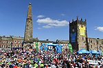 The start of Stage 3 of the Tour de Yorkshire 2018 running 181km from Richmond to Scarborough, England. 5th May 2018.<br /> Picture: ASO/Alex Broadway | Cyclefile<br /> <br /> <br /> All photos usage must carry mandatory copyright credit (&copy; Cyclefile | ASO/Alex Broadway)