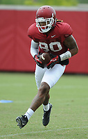 NWA Democrat-Gazette/ANDY SHUPE<br /> Arkansas tight end Will Gragg makes a catch Tuesday, Aug. 1, 2017, during practice at the university's practice field in Fayetteville. Visit nwadg.com/photos to see more photographs from the day's practice.