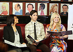 Raven-Symone, Justin Long, Megan Hilty.attending the Announcements for the 2012 Drama League Nominations held at Sardi's on 4/24/2012 in New York City. © Walter McBride / Retna Ltd.