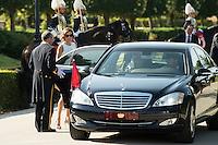 King Felipe VI and Queen Letizia of Spain receive the president of the republic of Perú, Sr. Ollanta Humala Tasso, y Sra. Nadine Heredia Alarcón at El Pardo Palace in Madrid, Spain. July 07, 2015.<br />  (ALTERPHOTOS/BorjaB.Hojas)