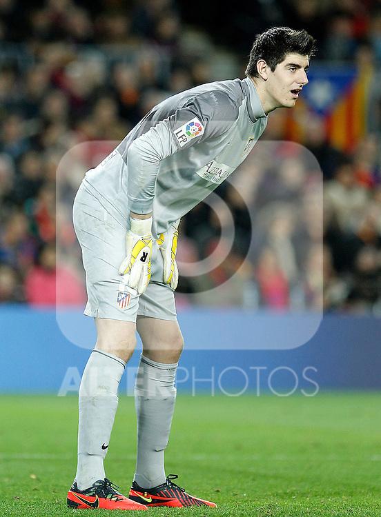 Atletico de Madrid's Thibaut Courtois during La Liga match.December 16,2012. (ALTERPHOTOS/Acero)