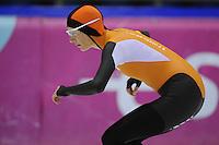 SCHAATSEN: HEERENVEEN: 01-02-2014, IJsstadion Thialf, Olympische testwedstrijd, Carien Kleibeuker, ©foto Martin de Jong