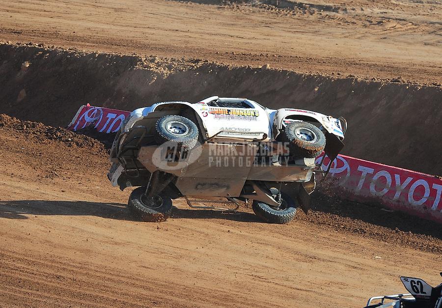Dec. 11, 2011; Chandler, AZ, USA;  LOORRS super lite driver Jessie Johnson (15) during the Lucas Oil Challenge Cup at Firebird International Raceway. Mandatory Credit: Mark J. Rebilas-