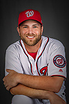 22 February 2019: Washington Nationals catcher Spencer Kieboom poses for his Photo Day portrait at the Ballpark of the Palm Beaches in West Palm Beach, Florida. Mandatory Credit: Ed Wolfstein Photo *** RAW (NEF) Image File Available ***