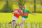 St Pats Brendan Poff and Tuoisit's Colm Brosnan.