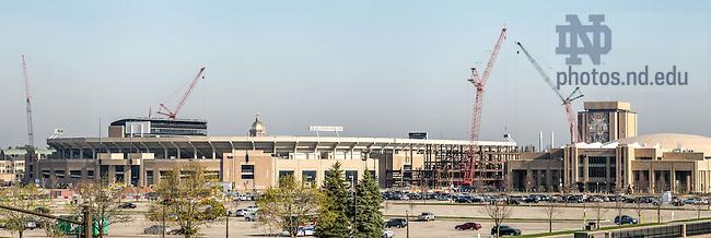 Apr. 17, 2015; Campus Crossroads Construction (Photo by Matt Cashore/University of Notre Dame)