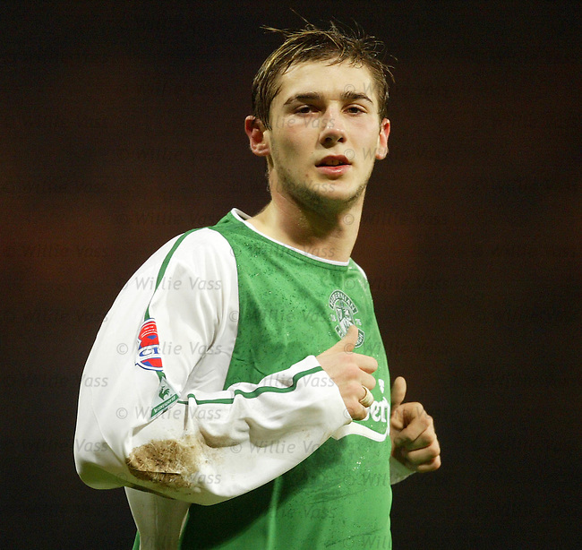 Kevin Thomson, Hibs.Stock season 2003-04.pic willie vass