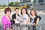 Pictured are the third level winners of the Young Entrepreneur Programme - Aquaction, from left: Breda O?Dwyer (lecturer), Dionne Comerford, Laura Moynihan and Maura Long..