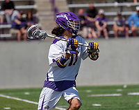 Justin Reh (#11) prepares to pass as UAlbany Lacrosse defeats Vermont 14-4  in the American East Conference Championship game at Casey Stadium, May 5.