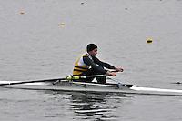 028 ChristchurchRC SEN.1x..Marlow Regatta Committee Thames Valley Trial Head. 1900m at Dorney Lake/Eton College Rowing Centre, Dorney, Buckinghamshire. Sunday 29 January 2012. Run over three divisions.