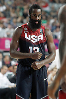 USA's James Harden celebrates during 2014 FIBA Basketball World Cup Quarter-Finals match.September 9,2014.(ALTERPHOTOS/Acero)