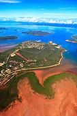 Village de Népoui sur la presqu'île de Muéo, province Nord, Nouvelle-Calédonie