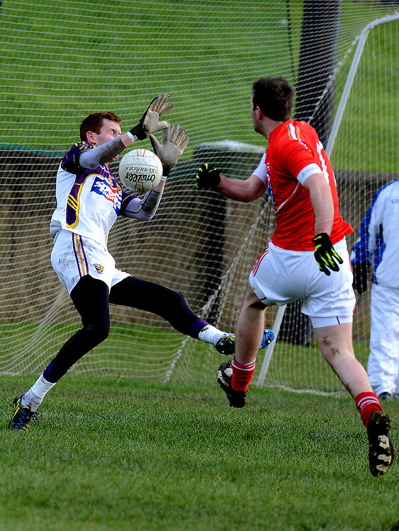 Louth Darren O'Hanlon Wexford Anthony Masterson. Photo:Colin Bell/pressphotos.ie