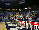 Nevada cheerleaders before their NCAA college basketball game against California Baptist in the  of an  in Reno, Nev., Monday, Nov. 19, 2018. (AP Photo/Tom R. Smedes)