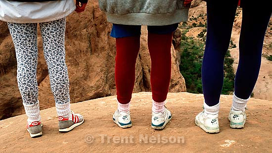 Pat and Maddie Sue Quayle, Laura Nelson on the Slickrock Bike Trail.   &amp;#xA;<br />