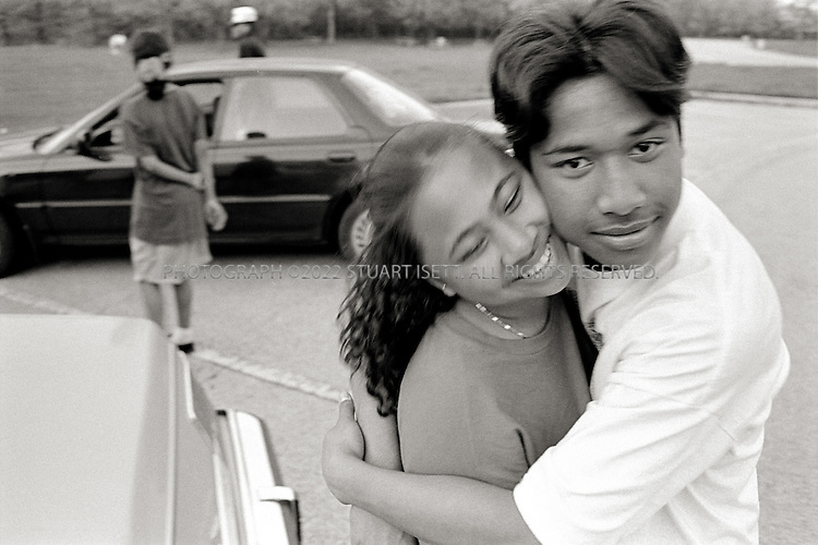 6/1993--Chicago, USA..Ronny and his girlfriend at the waterfront on Lake Michigan...All photographs ©2007 Stuart Isett.All rights reserved.This image may not be reproduced without expressed written permission from Stuart Isett.