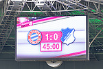 15.07.2017, Borussia Park, Moenchengladbach, GER, TELEKOM CUP 2017 - FC Bayern Muenchen vs TSG 1899 Hoffenheim<br /> <br /> im Bild<br /> Anzeigetafel / Endstand, Feature<br /> <br /> Foto &copy; nordphoto / Ewert