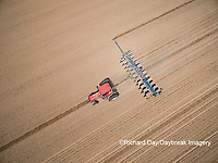 63801-10110 Farmer planting corn-aerial Marion Co. IL