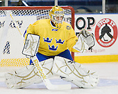 Stefan Steen (Sweden - 1) - The Merrimack College Warriors defeated the visiting Sweden Under 20 team 4-1 on Tuesday, November 2, 2010, at Lawler Arena in North Andover, Massachusetts.