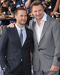 Liam Neeson and Taylor Kitsch attends Universal Pictures' American Premiere of Battleship held at Nokia Theatre L.A. Live in Los Angeles, California on May 10,2012                                                                               © 2012 DVS / Hollywood Press Agency