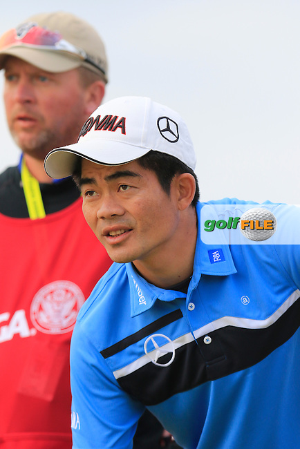 Wen-chong LIANG (CHN) on the 2nd tee during Thursday's Round 1 of the 2015 U.S. Open 115th National Championship held at Chambers Bay, Seattle, Washington, USA. 6/18/2015.<br /> Picture: Golffile | Eoin Clarke<br /> <br /> <br /> <br /> <br /> All photo usage must carry mandatory copyright credit (&copy; Golffile | Eoin Clarke)