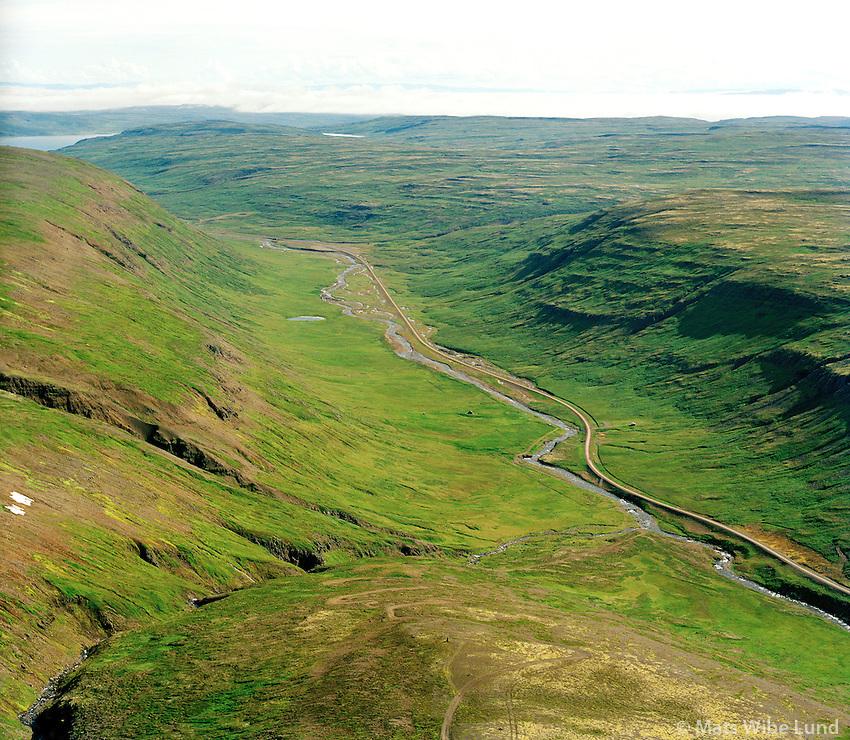 Kleppustaðir séð til suðausturs, Staðará, Strandabyggð áður Hrófbergshreppur /  Kleppustadir viewing southeast, Stadara river. Stranbdabyggd former  Hrofberghshreppuyr