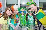 Pictured are Scoil Eoin Balloonagh pupils at their St. Patricks Parade on Friday, from left: Clodagh OSullivan, Lucy OCarroll, Gillian Bissett, Jessica Barrett and Laura Pitman.