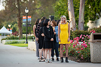 Graduating seniors, family, faculty and staff gather for the Asian Pacific Islander Graduation Celebration in the Academic Quad and steps between Johnson and Fowler Halls on Friday, May 17, 2019.<br /> (Photo by Marc Campos, Occidental College Photographer)