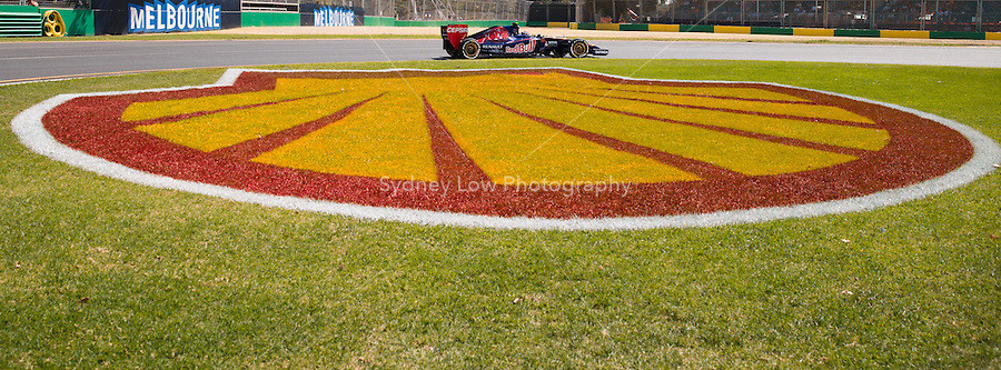 March 14, 2014: Daniil Kvyat (RUS) from the Scuderia Toro Rosso team rounds turn three during practice session one at the 2014 Australian Formula One Grand Prix at Albert Park, Melbourne, Australia. Photo Sydney Low.