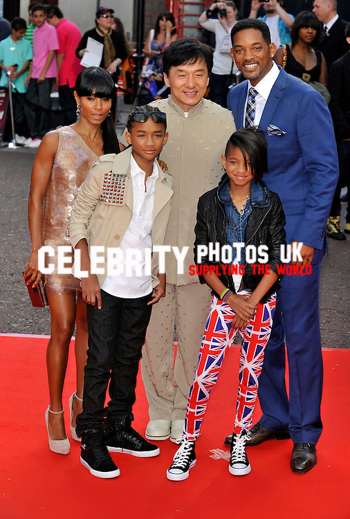 Jada Pinkett-Smith, Jackie Chan, Will Smith, Jaden Smith and Willow Smith attending the Gala Premiere of The Karate Kid. Held at the Odeon, Leicester Square, London
