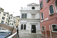 L'esterno della Scuola di San Giorgio degli Schiavoni a Venezia.<br /> Exterior of the Scuola di San Giorgio degli Schiavoni  in Venice.<br /> UPDATE IMAGES PRESS/Riccardo De Luca