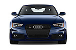 Car photography straight front view of a 2017 Audi S5-Coupe 3.0T-quattro-manual 2 Door Coupe Front View