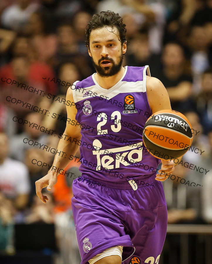 BELGRADE, SERBIA - DECEMBER 22: Sergio Llull of Real Madrid in action during the 2016/2017 Turkish Airlines EuroLeague Regular Season Round 14 game between Crvena Zvezda MTS Belgrade and Real Madrid at Aleksandar Nikolic Hall on December 22, 2016 in Belgrade, Serbia. (Photo by Srdjan Stevanovic/Getty Images)