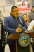 CPAC means Civilian Police Accountability Council A large crowd gathered at the James R. Thompson Center in downtown Chicago to rally against President Trumps. declaration of a national emergency at the nation's southern border. Numerous Latinx politicians were present to speak out against what they called a racist injustice. r Hispanic Politicians Giving Speeches at Various Events