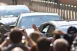 25/03/2017, Milan - POPE FRANCIS VISITS MILAN.<br /> Pope Francis leaves San Vittore Jail in Milan, Italy on March 25, 2017.