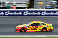 July 15, 2017 - Loudon, New Hampshire, U.S. - Joey Logano, Monster Energy NASCAR Cup Series driver of the Shell Pennzoil Ford (22), runs in the NASCAR Monster Energy Overton's 301 final practice round held at the New Hampshire Motor Speedway in Loudon, New Hampshire. Larson placed first in the qualifier. Eric Canha/CSM