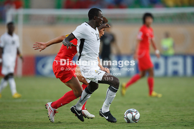 SUEZ, EGYPT - OCTOBER 9:  Mohammed Rabiu of Ghana controls the ball against South Korea during a FIFA U-20 World Cup soccer match October 9, 2009 in Suez, Egypt.  (Photograph by Jonathan P. Larsen)