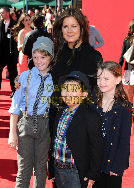1 February 2014 - Westwood, California - Marcia Gay Harden. &quot;The Lego Movie&quot; Los Angeles Premiere held at the Regency Village Theater.  <br /> CAP/ADM/BP<br /> &copy;Byron Purvis/AdMedia/Capital Pictures
